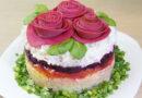 Селедка под шубой «Розы», ну очень вкусный салат