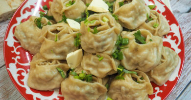 Манты с мясом по-узбекски — рецепт в домашних условиях
